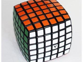 6x6 versenykocka, fekete, lekerekített (V-Cube, egyszemélyes logikai játék, 7-99 év)