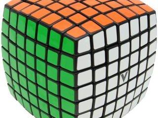 7x7 versenykocka, fekete, lekerekített (V-Cube, egyszemélyes logikai játék, 7-99 év)