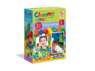 80 db-os puha építőkocka szett fiúknak, bébijáték (CLEM, 1-4 év)