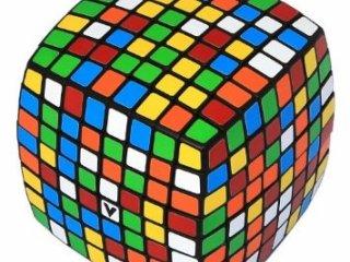 8x8 versenykocka, fekete, lekerekített (V-Cube, egyszemélyes logikai játék, 7-99 év)