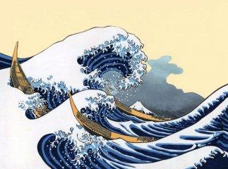 A nagy hullám, Papírszínház mese (Véronique Massenot)