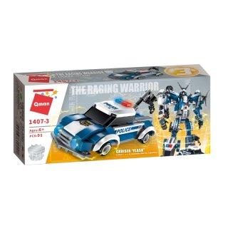 A tomboló rendőrrobot, 6 az 1-ben Lego kompatibilis építőjáték készlet (QMAN, 1407, 6-12 év)