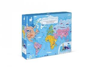 A világ látványosságai 3D oktató kirakó, Janod 350 db-os puzzle (7-10 év)