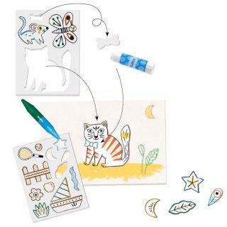 A world to create animals, Djeco rajztanítást segítő kreatív készlet - 8997 (3-6 év)