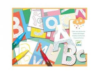 A world to create letters, Djeco rajztanítást segítő kreatív készlet - 8998 (3-6 év)