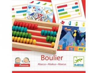 Abakusz, feladványokkal (Djeco, logikai számolós játék, 3-7 év)