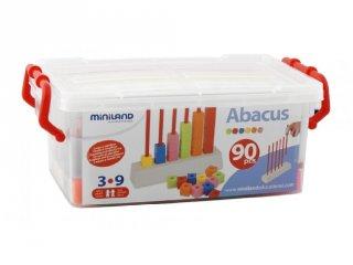 Abakusz, számolós fajáték (Miniland, 95053, 90 db-os logikai játék, 4-9 év)