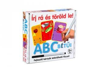 ABC betűinek gyakorlása feladatkártyákkal (írás gyakorlására, 5-7 év)