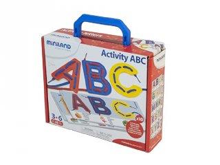 ABC-s fűzögető (Miniland, 31866, kézügyességet fejlesztő logikai játék, 3-6 év)