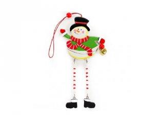 Ablakdísz, Hóember lógó lábbal (FP, karácsonyi dekoráció)