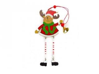 Ablakdísz, Rénszarvas lógó lábbal (FP, karácsonyi dekoráció)