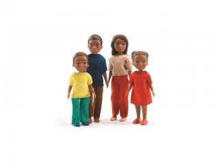 Afroamerikai család (Djeco, 7813, babaház lakók, 4 fő, 3-10 év)