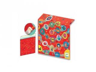 Ajándék csomagoló boríték (Djeco, 5922, papír ajándék csomagoló)