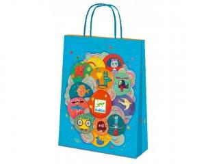 Ajándék táska, nagy (Djeco, 5925, papír ajándék csomagoló)