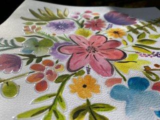 Akvarell festés maszkoló filccel, kreatív szett (Sycomore, 7-14 év)