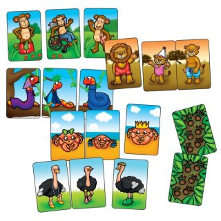 Állatcsaládok mini játék, párosító és memória társasjáték (OR, 4-7 év)
