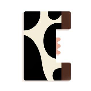 Állatdekor betű fából: E, Djeco szobadekoráció - 4964