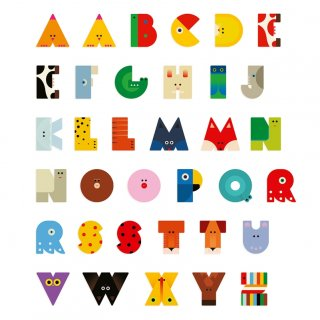 Állatdekor betű fából: L, Djeco szobadekoráció - 4971