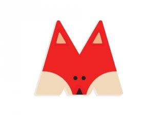 Állatdekor betű fából: M, Djeco szobadekoráció - 4972