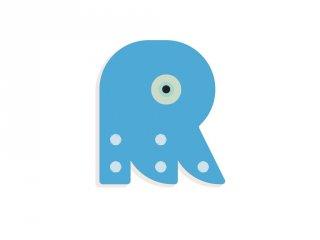 Állatdekor betű fából: R, Djeco szobadekoráció - 4977