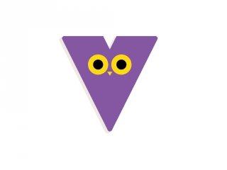 Állatdekor betű fából: V, Djeco szobadekoráció - 4981