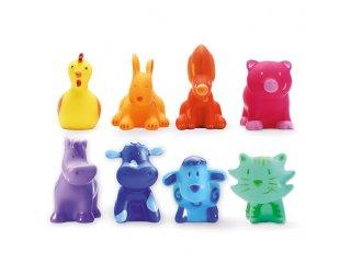 Állatfigurák, Szivárvány állatok (Djeco, 9115, 8 db-os szerepjáték, 0-5 év)