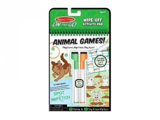 Állati játékok letörölhető lapokkal, Melissa&Doug foglalkoztató játék (6-10 év)
