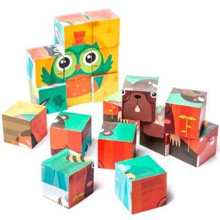 Állati kockakirakó, 9 db-os puzzle (2-5 év)