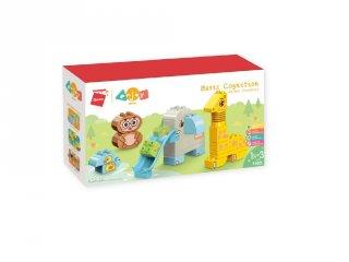 Állati paradicsom kicsiknek, Lego Duplo kompatibilis építőjáték készlet (QMAN, 5002, 1,5-5 év)