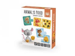 Állatok eledele, Montessori párosító puzzle (2-4 év)