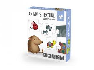 Állatok kültakarója, Montessori párosító puzzle (2-4 év)