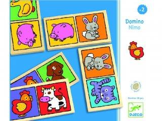Állatos dominó, Nagy (Djeco, 1638, 28 db-os párosító logikai játék, 2-5 év)