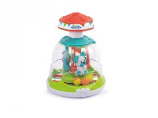 Állatos készségfejlesztő körhinta, babajáték (CLEM)