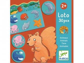 Állatos lottó (Djeco, 8120, 30 db-os párosító társasjáték, 2-5 év)