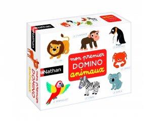 Állatos Nathan dominó, párosító logikai játék (2-5 év)