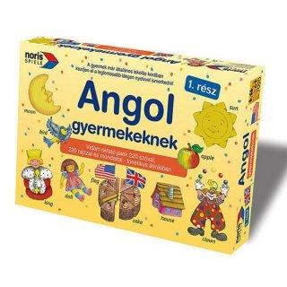 Angol gyerekeknek 1. rész (Noris, Angol nyelv gyakorló-, és oktató társasjáték, 6-12 év)