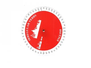 Angol rendhagyó igék korong, készségfejlesztő, foglalkoztató kiadvány