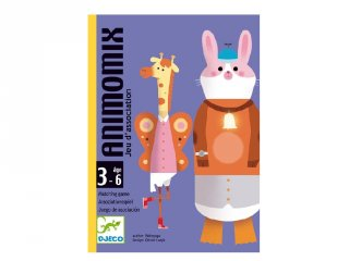 Animomix állatos képrakosgató, Djeco kártyajáték - 5146 (3-6 év)
