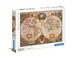 Antik térkép puzzle, 1000 db-os kirakó (CLEM, 9-99 év)