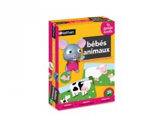 Anyaállatok és kicsinyeik Nathan párosító puzzle (2-4 év)