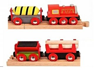 Anyagmozgató vonat (Bigjigs, vonatos fajáték, 3-10 év)