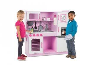 Apró séfek konyhája pink, fa játékkonyha (3-8 év)