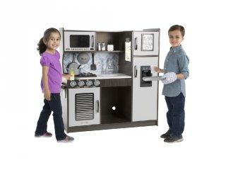 Apró séfek konyhája szürke, fa játékkonyha (3-8 év)