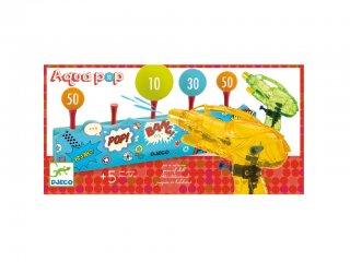 Aqua Pop, Célbalövés (Djeco, 2048, vízipisztolyos ügyességi játék, 5-12 év)