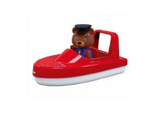Aquaplay Piros motorcsónak maci figurával, fürdőjáték (3-6 év)