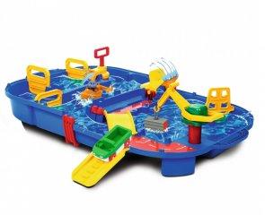 Aquaplay vízi pálya, 27 részes hordozható kikötő, fürdőjáték (3-6 év)