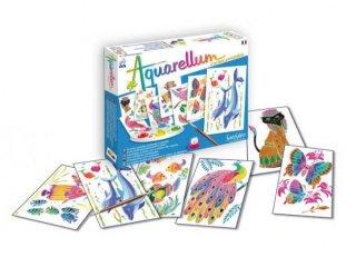 Aquarell junior festőkészlet, képeslap méretű, Állatképek a parkban (SentoSphére, kreatív festőkészlet, 7-99 év)