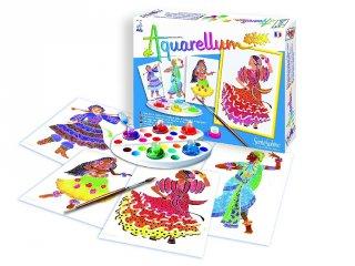 Aquarell junior festőkészlet, Népi Táncosok (SentoSphére, kreatív festőkészlet, 7-99 év)