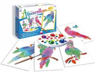 Aquarell junior festőkészlet, Papagájok (SentoSphére, kreatív festőkészlet, 7-99 év)