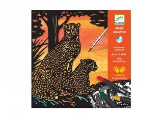 Aquarell készlet Dzsungel állatok, Djeco kreatív szett - 9348 (6-10 év)